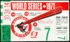 1971 World Series Game 7 Pirates at Orioles Ticket Stub