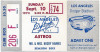 1972 MLB Astros at Dodgers ticket stub