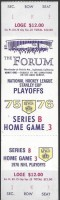 1976 NHL Playoffs Rd 2 Gm 6 Bruins at Kings ticket stub
