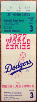 1977 World Series Game 3 Yankees at Dodgers Ticket Stub