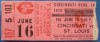 1978 Mets at Reds Tom Seaver no hitter ticket stub