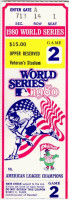 1980 World Series Game 2 ticket stub Royals at Phillies