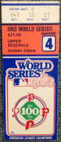 1983 World Series Game 4 Orioles at Phillies Ticket Stub