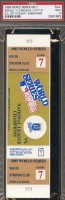 1985 World Series Game 7 ticket Cardinals at Royals