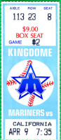 1986 MLB Angels at Mariners ticket stub