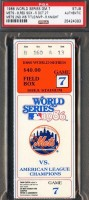 1986 World Series Game 7 ticket stub Red Sox at Mets