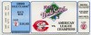 1990 World Series Game 2 ticket stub Athletics at Reds