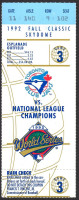 1992 World Series Game 3 Braves at Blue Jays ticket stub