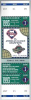 1993 World Series Game 3 Blue Jays at Phillies ticket stub