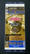 1995 World Series Game 4 Braves at Indians ticket stub