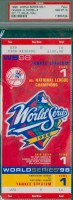 1998 World Series Game 1 ticket Padres at Yankees