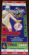 1999 World Series Game 4 Braves at Yankees ticket stub