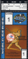 2003 World Series Game 1 ticket Marlins at Yankees