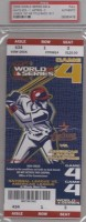 2005 World Series Game 4 White Sox at Astros ticket stub