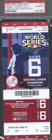 2009 World Series Game 6 ticket Phillies at Yankees