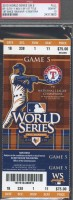 2010 World Series Game 5 Giants at Rangers Ticket Stub