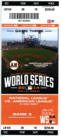2014 World Series Game 3 ticket Royals at Giants