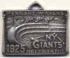1925 New York Giants Sterling Silver Pass