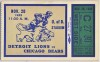 1935 NFL Bears at Lions ticket stub