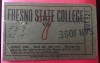 1940 NCAAF San Jose State at Fresno State ticket stub