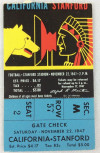 1947 NCAAF California at Stanford ticket stub