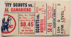 1975 NHL Canadiens at Scouts ticket stub