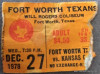 1978 CHL Kansas City Red Wings at Fort Worth Texans ticket stub