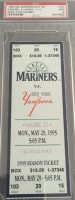 1995 MLB Yankees at Mariners Jeter Debut ticket stub