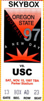 1997 NCAAF USC at Oregon State ticket stub