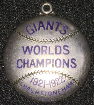 1923 MLB New York Giants sterling silver season pass  352