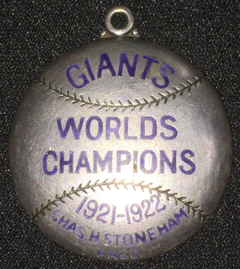 1923 MLB New York Giants sterling silver season pass