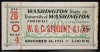 1931 NCAAF Washington State at Washington ticket stub