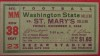 1934 NCAAF Washington State at St. Mary's ticket stub