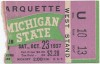 1937 NCAAF Marquette at Michigan State ticket stub