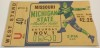 1941 NCAAF Missouri at Michigan State ticket stub
