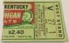 1945 NCAAF Kentucky at Michigan State ticket stub
