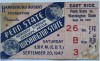 1947 NCAAF Washington State at Penn State ticket stub