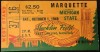 1949 NCAAF Marquette at Michigan State ticket stub