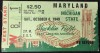 1949 NCAAF Maryland at Michigan State ticket stub