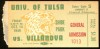 1949 NCAAF Tulsa at Villanova ticket stub