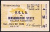 1949 NCAAF UCLA at Washington State ticket stub