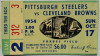 1954 NFL Browns at Steelers ticket stub