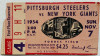1954 NFL Giants at Steelers ticket stub