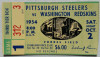 1954 NFL Redskins at Steelers ticket stub