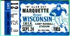 1955 NCAAF Marquette at Wisconsin ticket stub