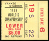 1956 NFL Championship Game Ticket Giants v Bears