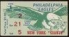 1957 NFL New York Giants at Philadelphia Eagles ticket stub