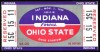 1959 NCAAF Indiana at Ohio State Ticket Stub