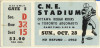 1962 CFL Rough Riders at Argonauts ticket stub
