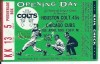 1962 MLB Cubs at Colt 45s ticket stub